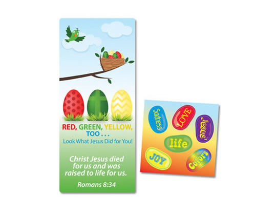 Red, Green, Yellow Activity Card Bookmark