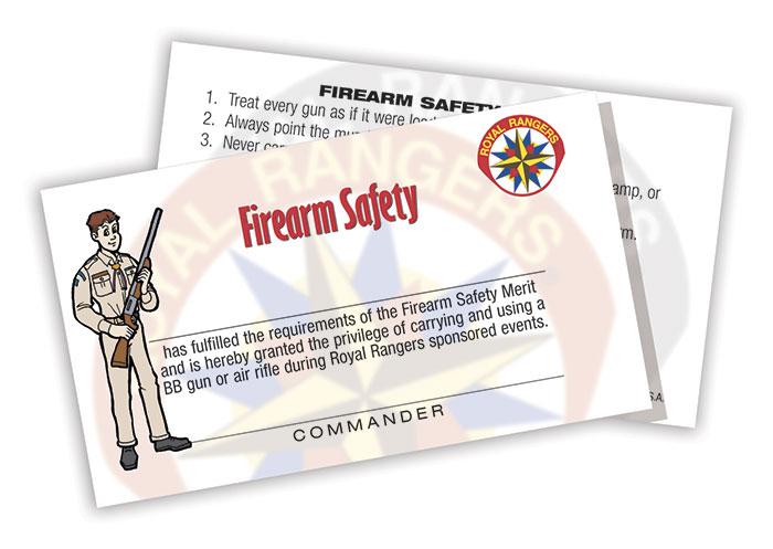 Firearm Safety Card