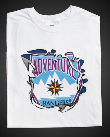 Adventure Rangers White T-shirt - Adult 4XL