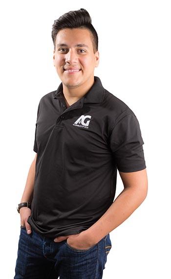 AG Men's Black Polo - Adult L