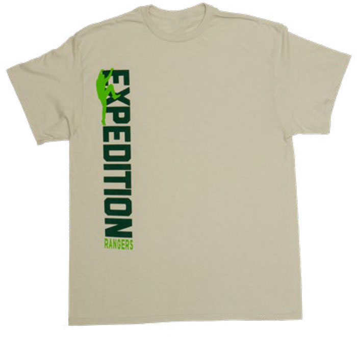 Expedition Rangers Tan T-Shirt, Adult X-Large