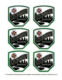Expedition Rangers Emblem Sticker Sheet
