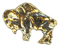 Royal Rangers Gold Buffalo Pin