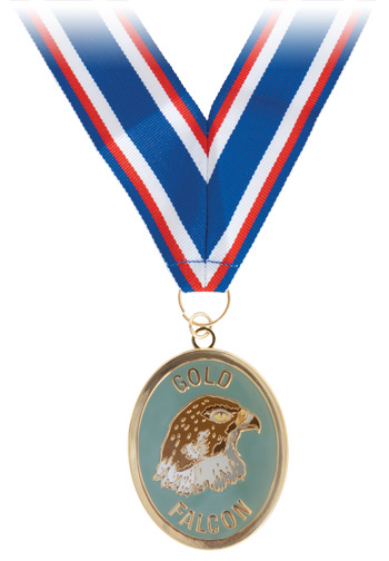 Gold Falcon Neck Medallion