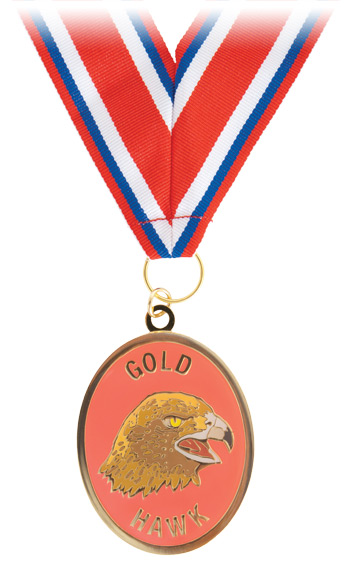 Gold Hawk Neck Medallion