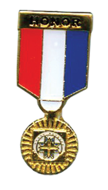 Honor Gold Medal Hat Pin
