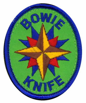 Adventure Rangers Bowie Knife Patch
