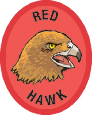 Discovery Rangers Advancement Patch - Red Hawk