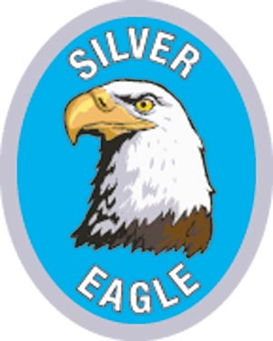 Discovery Rangers Advancement Patch - Silver Eagle