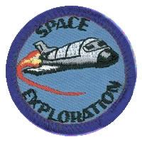 Space Exploration Merit (Blue)