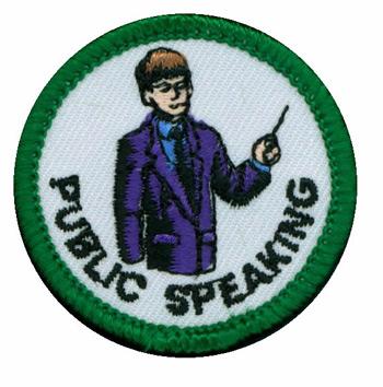 Public Speaking Merit (Green)