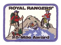 25-Mile Award Patch