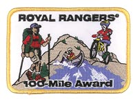 100-Mile Award Patch