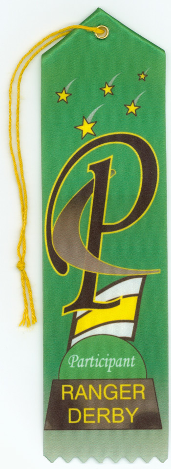 Ranger Derby Participation Ribbon 6 Pack