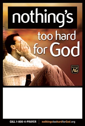 Nothing's Too Hard for God Billing Posters, Set of 4