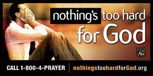 Nothing's too Hard for God Church Banner (Horizontal). 4 x 8'