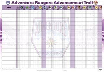 Adventure Rangers Advancement Tracking Chart
