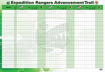 Expedition Rangers Advancement Tracking Chart