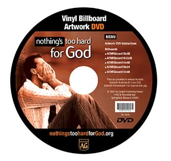 Nothing's Too Hard for God Vinyl Billboard Artwork DVD