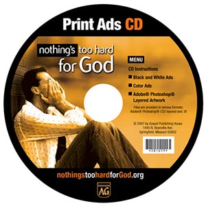 Nothing's Too Hard for God Print Ads CD-Rom