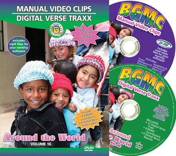 Volume 16-2014  Two Disk Set: BGMC Missions Manual Video Clips and Digital Verse Traxx on DVD