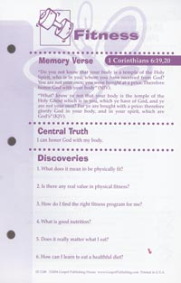 friends fitness journal pages 1998 version my healthy church