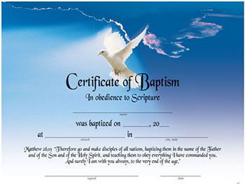 baptism certificate template free - baptism certificate my healthy church