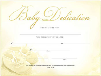 Baby Dedication Certificate | My Healthy Church®