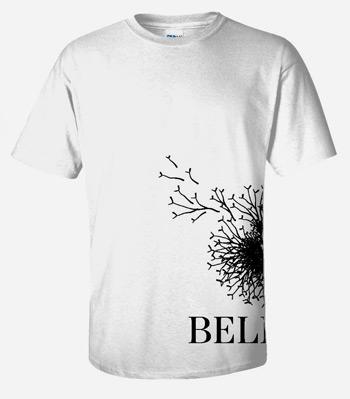 Believe white t shirt adult medium my healthy church for Adult medium t shirt