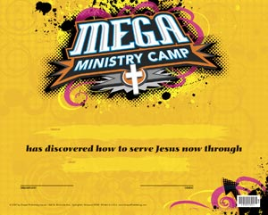 mega ministry camp certificates my healthy church