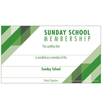 Sunday School Membership Card Download