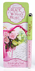 Amazing Grace for a Woman's Heart Pen and Jumbo Bookmark Set