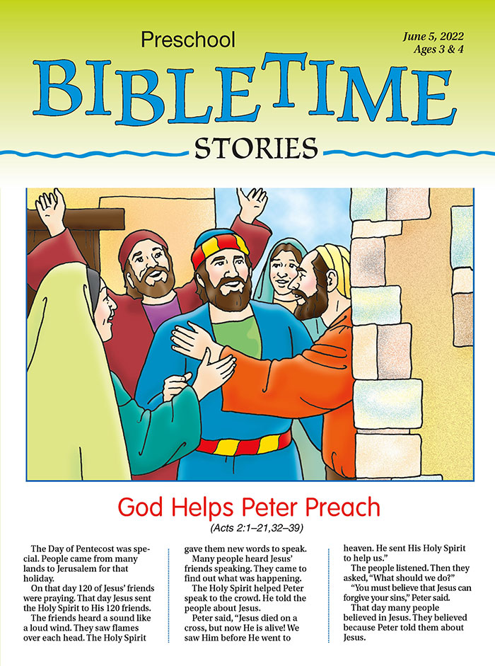 Preschool Bible Time Stories Summer | My Healthy Church®