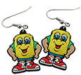 Buddy Barrel 3D Molded Rubber Earrings
