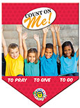 Count on Me Pennant Banner