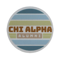 "Chi Alpha 2"" Alumni Sticker, 50 count"